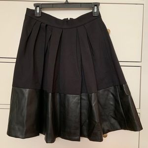A-line skirt with pleather bottom